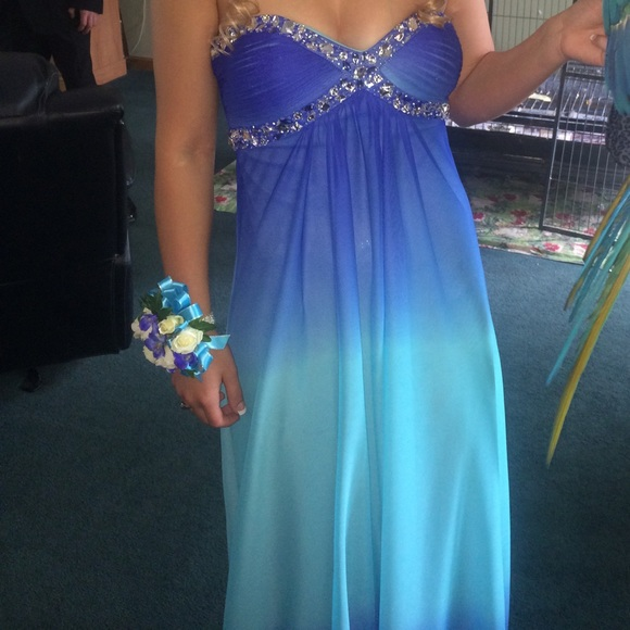 Deb Dresses & Skirts - Blue ombré prom dress